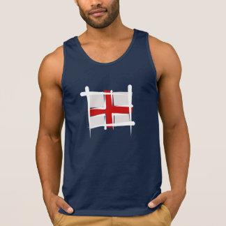 England borstar flagga tank top