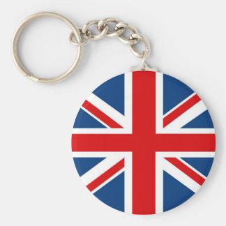 England facklig jack/brittisk flagga Keychain Rund Nyckelring