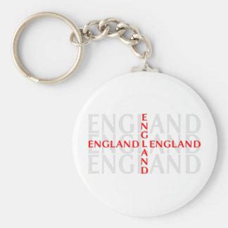 England - flagga av St George Rund Nyckelring