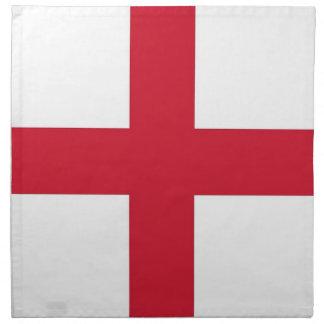 England flagga på den MoJo servetten