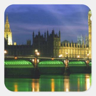 England landskap fyrkantigt klistermärke