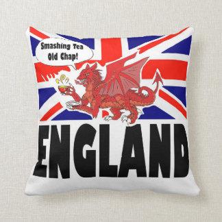 England rött modigt lejont för drake och för royal kudde