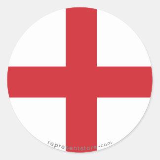 England slättflagga runt klistermärke