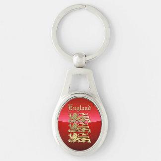 England - vapensköld ovalt silverfärgad nyckelring