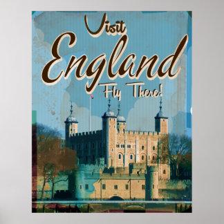 England vintage resoraffisch poster