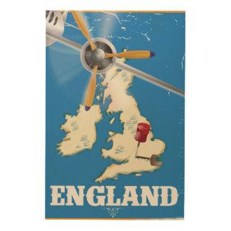England vintage resoraffisch trätavla