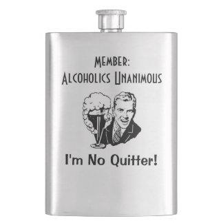 Enhällig rostfritt stålflaska för alkoholister fickplunta