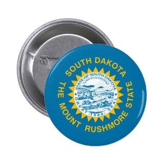 enig sy Amerika för South Dakota statlig flagga Standard Knapp Rund 5.7 Cm