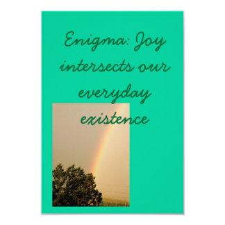 Enigma av den nya livbaby showerinbjudan 8,9 x 12,7 cm inbjudningskort