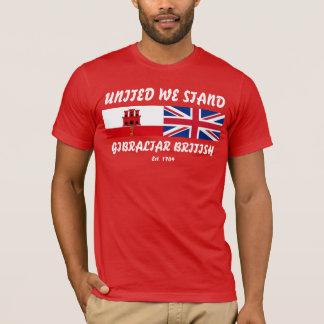 Enigt står vi den Gibraltar britttshirten T-shirts