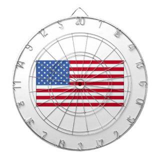 Enigt statligt av den Amerika flagga Darttavla