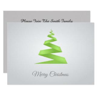 Enkel bandjulgran för jul 12,7 x 17,8 cm inbjudningskort