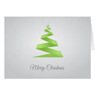 Enkel bandjulgran för jul hälsningskort