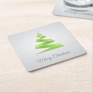 Enkel bandjulgran för jul underlägg papper kvadrat