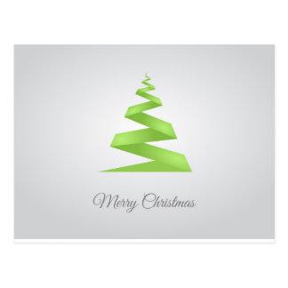 Enkel bandjulgran för jul vykort