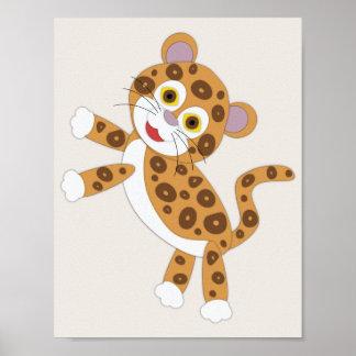 Enkel barnkammarekonst för jaguar poster