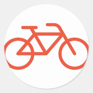 Enkel cykel runt klistermärke