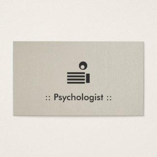 Enkel elegant professionell för psykolog visitkort