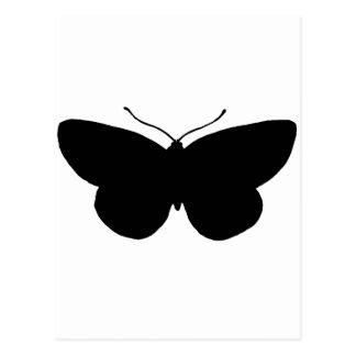Enkel fjäril i svart vykort