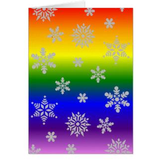 Enkel flott och elegant glad julkort hälsningskort