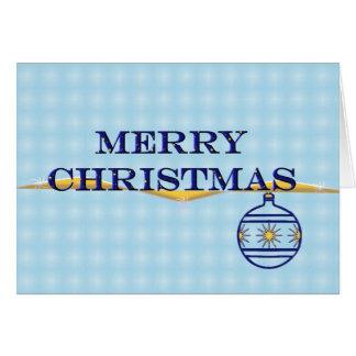 Enkel god jul i blått hälsningskort