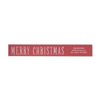 Enkel god julsjal runt om adressetikett