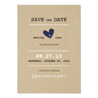 Simple Heart Wedding Save the Date