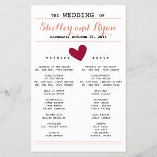 Enkel hjärtabröllopsprogram