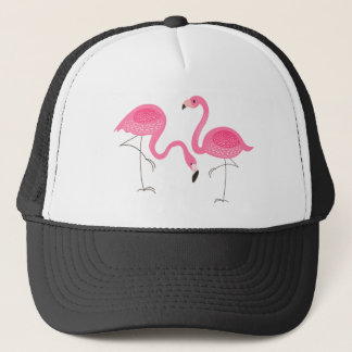 Enkel illustration för två rosa Flamingos Keps