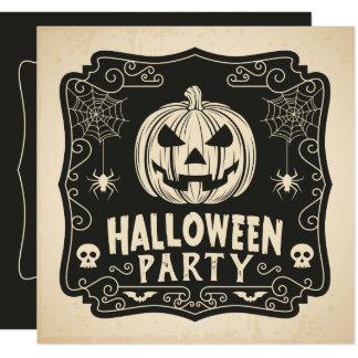 Enkel inbjudan för Halloween dräktparty  