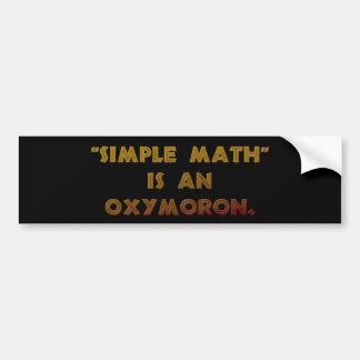 Enkel Math är en Oxymoron Bildekal