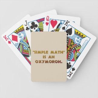 Enkel Math är en Oxymoron Spelkort