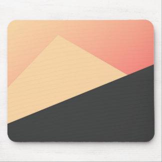 Enkel minsta persika, korall & svart geometriskt musmatta