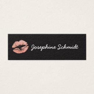 Enkel moderiktig Lipgloss för Cosmetologist kyss Litet Visitkort