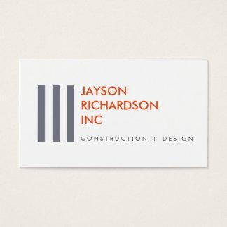 Enkel modern arkitektur, konstruktion, design 1 visitkort