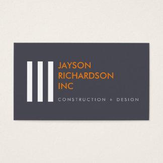 Enkel modern arkitektur, konstruktion, design 2 visitkort