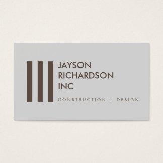Enkel modern arkitektur, konstruktion, design 3 visitkort