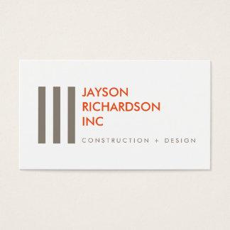 Enkel modern arkitektur, konstruktion, design 4 visitkort