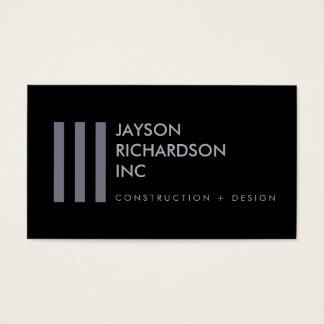 Enkel modern arkitektur, konstruktion, design 5 visitkort
