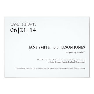 Enkel & modern spara daterainbjudan 12,7 x 17,8 cm inbjudningskort