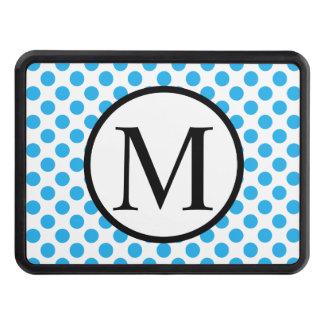 Enkel Monogram med blåttpolka dots Dragkroksskydd