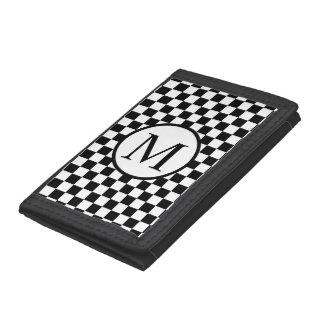 Enkel Monogram med svart schackbräde