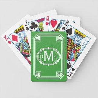 Enkel Monogram som leker kort Spelkort