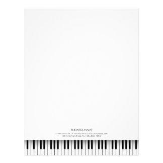 Enkel musikalisk pianosvart & vitnyckelbrevhuvud brevhuvud
