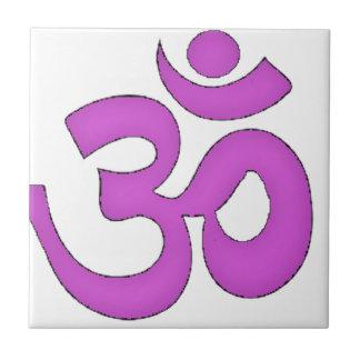 enkel om, aum som är sanskrit, mantra, yoga, kakelplatta