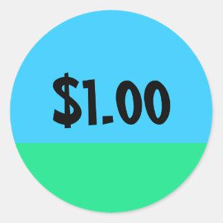 Enkel prislappklistermärke - anpassade runt klistermärke