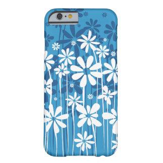 Enkel ren blomstra blommigt i blått barely there iPhone 6 skal