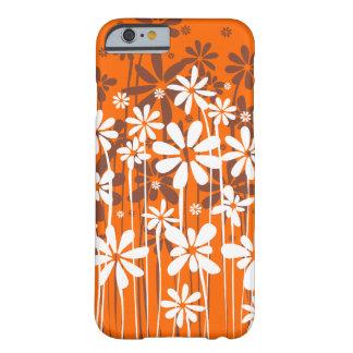 Enkel ren blomstra blommigt i orange barely there iPhone 6 fodral