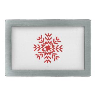 Enkel röd och vitSnowflakedesign