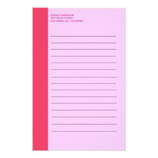 Enkel rosagräns brevpapper